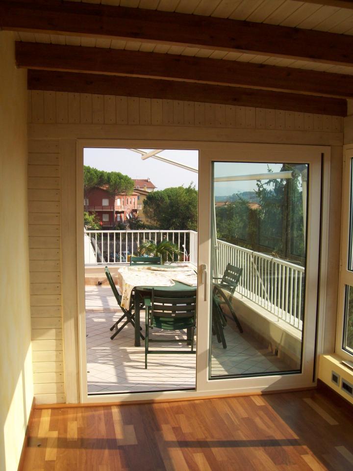 Veranda in legno per copertura terrazzo
