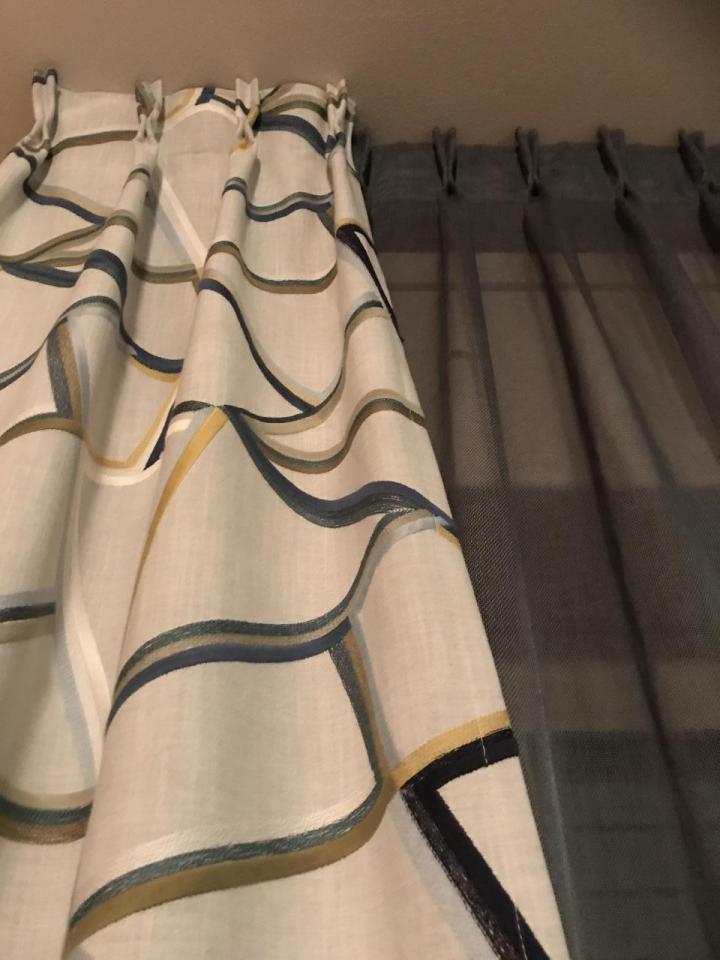 Tenda da interno - arricciata a mazzetti